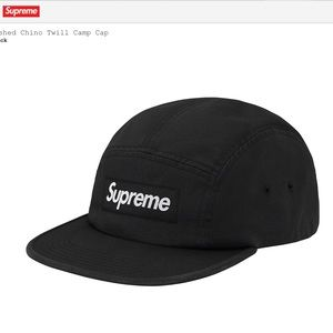 NWT Supreme Box Logo Camp Hat Black